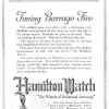 Hamilton【ハミルトン】の広告 -1918年-