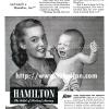 Hamilton【ハミルトン】の広告 -1945年-