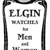 Elgin【エルジン】の広告 -1908年-